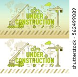 under construction web page... | Shutterstock .eps vector #562499089