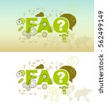 faq web page banner concept... | Shutterstock .eps vector #562499149