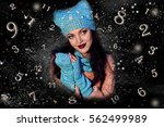 numerology  magic of numbers | Shutterstock . vector #562499989