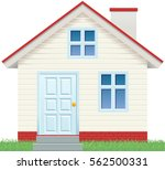day viewing house icon. | Shutterstock .eps vector #562500331