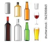 bottles with alcoholic drinks... | Shutterstock .eps vector #562500865
