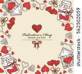 valentine's day background.... | Shutterstock .eps vector #562502059