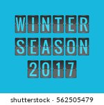 winter season 2017  vector... | Shutterstock .eps vector #562505479