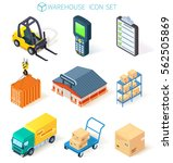 3d vector  isometric warehouse...   Shutterstock .eps vector #562505869