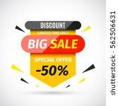 sale banner. vector... | Shutterstock .eps vector #562506631