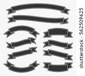 set of black vintage ribbon... | Shutterstock .eps vector #562509625