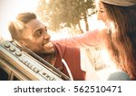 multiracial couple at beginning ... | Shutterstock . vector #562510471