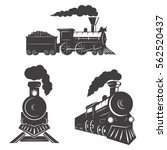 set of trains icons isolated on ... | Shutterstock .eps vector #562520437