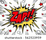 lettering zap comic text. sound ... | Shutterstock .eps vector #562523959