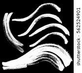 hand drawn curved brushstrokes... | Shutterstock .eps vector #562524901