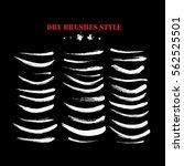 hand drawn curved brushstrokes... | Shutterstock .eps vector #562525501
