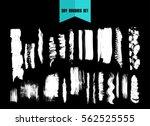 hand drawn brushstrokes and... | Shutterstock .eps vector #562525555
