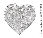 heart filled with doodle... | Shutterstock .eps vector #562527451