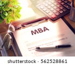 clipboard with concept   mba... | Shutterstock . vector #562528861