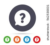 question mark sign icon. help... | Shutterstock .eps vector #562530031