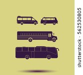 buses icon set. | Shutterstock .eps vector #562530805