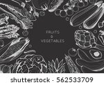 organic food design template.... | Shutterstock .eps vector #562533709