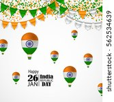 india republic day celebration. ... | Shutterstock .eps vector #562534639