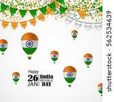 india republic day celebration. ... | Shutterstock .eps vector #562534639