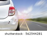 car of accident make front... | Shutterstock . vector #562544281