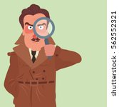 illustration of a detective... | Shutterstock .eps vector #562552321
