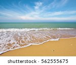 beautiful coast of beach at day....   Shutterstock . vector #562555675