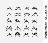 mountain vector. hill icon set. ... | Shutterstock .eps vector #562556701