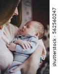 newborn baby sleeping on his... | Shutterstock . vector #562560247