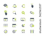 set of seo and development icons | Shutterstock .eps vector #562561537