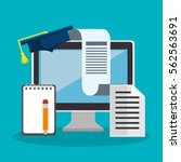 education online flat icons | Shutterstock .eps vector #562563691