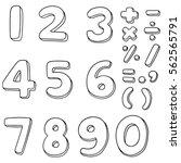vector set of number | Shutterstock .eps vector #562565791