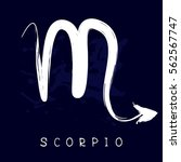 zodiac sign scorpio isolated on ... | Shutterstock .eps vector #562567747