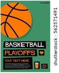 basketball playoffs  flat style ... | Shutterstock .eps vector #562571491