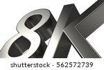 3d rendering of a silver 8k... | Shutterstock . vector #562572739