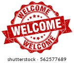 welcome. stamp. sticker. seal.... | Shutterstock .eps vector #562577689