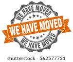 we have moved. stamp. sticker.... | Shutterstock .eps vector #562577731