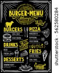 food menu for restaurant and...   Shutterstock .eps vector #562580284