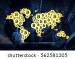 cryptocurrency  blockchain and... | Shutterstock . vector #562581205