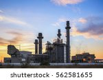 gas turbine electric power... | Shutterstock . vector #562581655