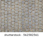 stone pavement tiled in top... | Shutterstock . vector #562582561