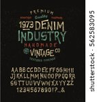 font denim industry. craft... | Shutterstock .eps vector #562583095