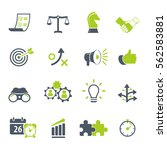 strategy and business icon set | Shutterstock .eps vector #562583881