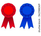 red and blue award ribbons... | Shutterstock .eps vector #562588369