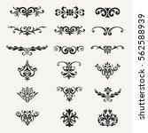 calligraphic decorative design... | Shutterstock .eps vector #562588939