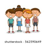cute little kids characters | Shutterstock .eps vector #562590649