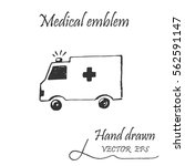 ambulance car icon. this emblem ... | Shutterstock .eps vector #562591147