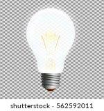 realistic lightbulp isolated ... | Shutterstock .eps vector #562592011
