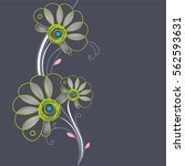 floral background. element for... | Shutterstock .eps vector #562593631