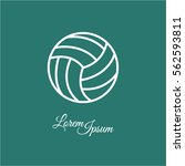 web line icon. volleyball | Shutterstock .eps vector #562593811