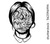 vector illustration of weird... | Shutterstock .eps vector #562596994